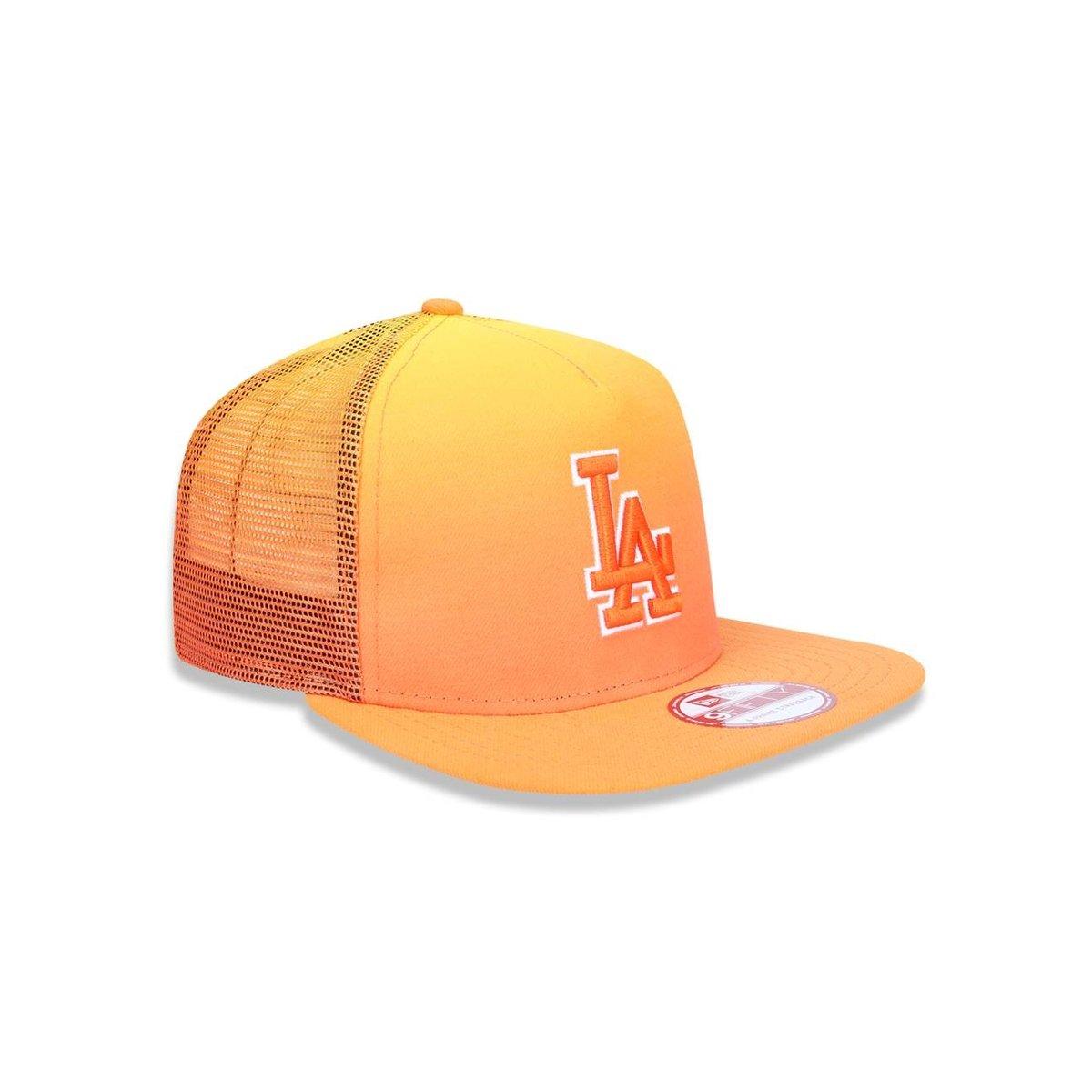 Boné 950 A-frame Los Angeles Dodgers MLB Aba Reta New Era - Amarelo e  Laranja 4f7b5a3a95b