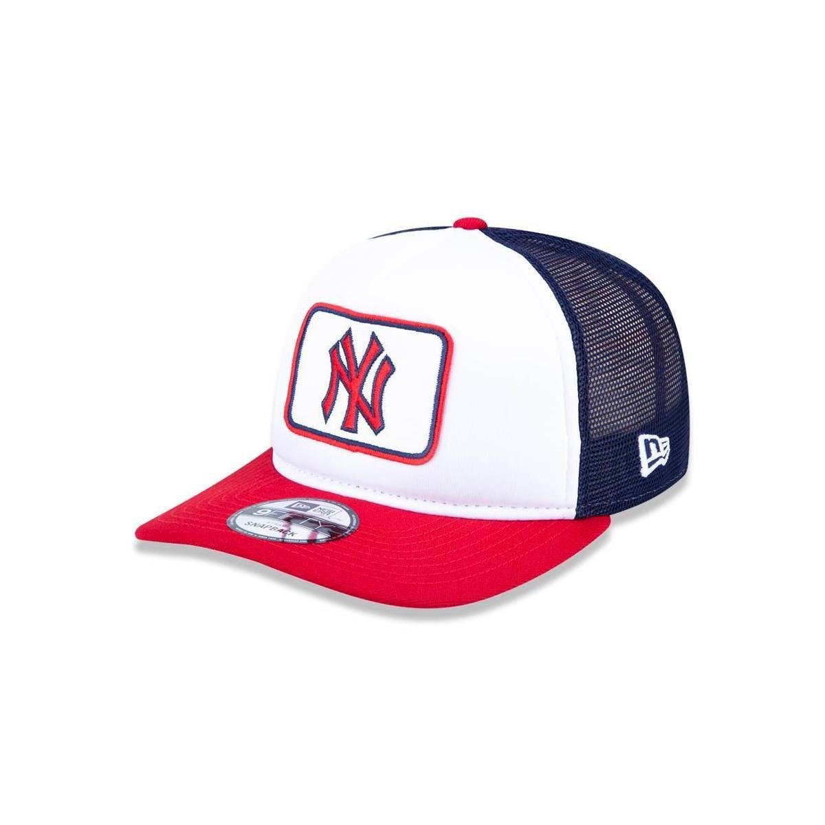 Boné 950 A-frame New York Yankees MLB Aba Reta Snapback New Era - Branco e  Marinho - Compre Agora  9223b7dc265