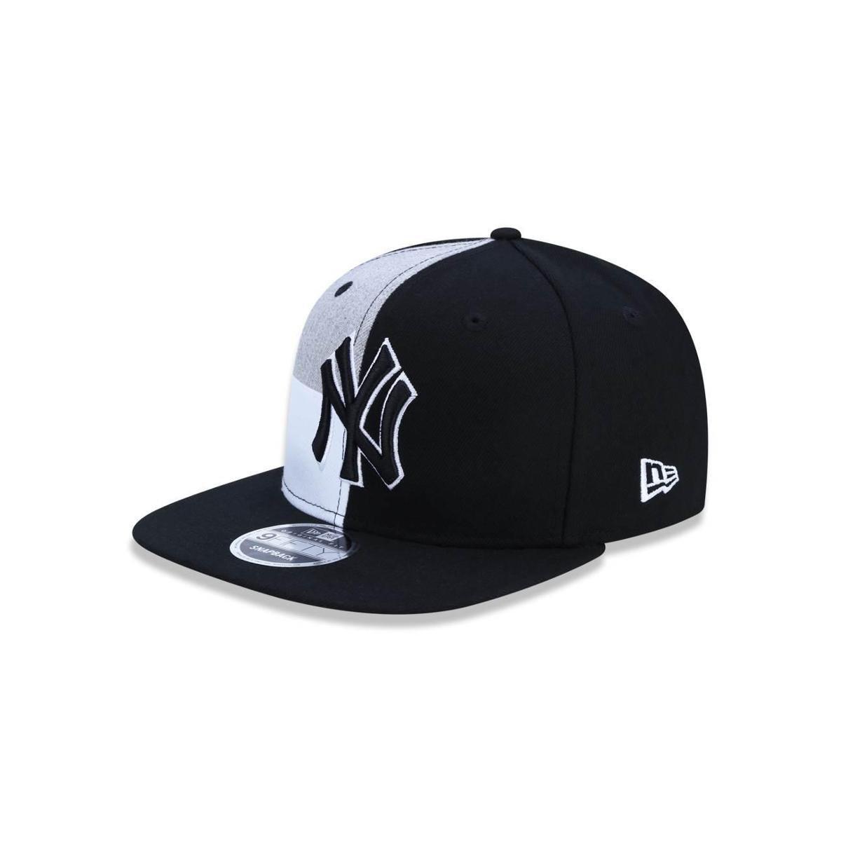 Bone 950 Original Fit New York Yankees MLB Aba Reta Snapback Preto Cinza New  Era - Preto e Cinza - Compre Agora  0baeee24af9