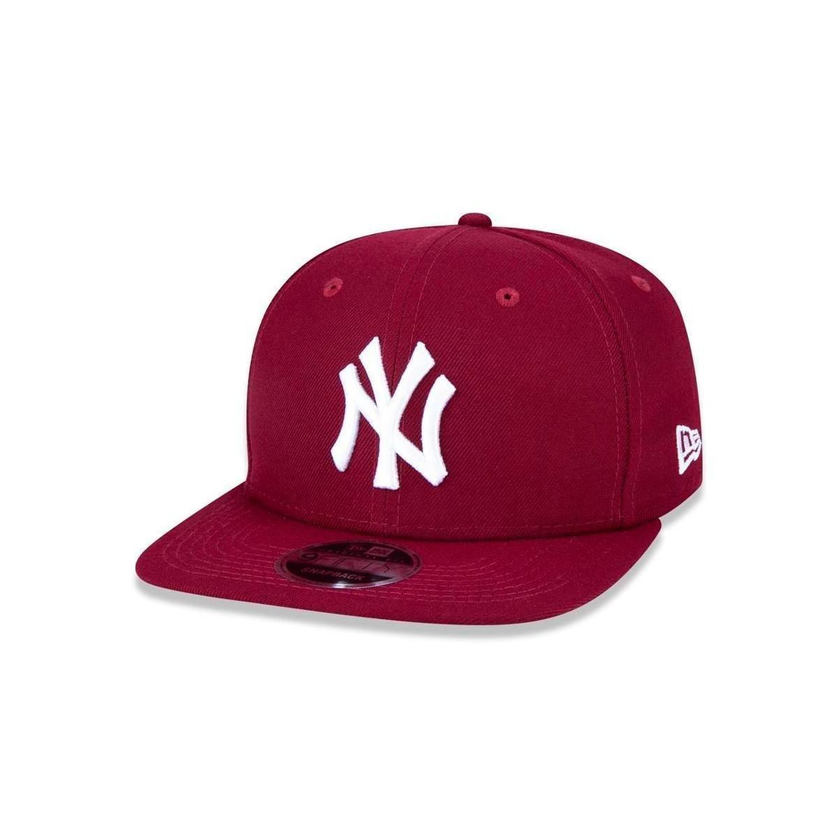 a5793d9d6aa63 Bone 950 Original Fit New York Yankees MLB New Era - Vinho - Compre Agora