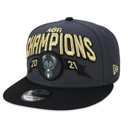 BONE 950 SN CHAMPIONS NBA CAMPEAO ABA RETA SNAPBACK CINZA NEW ERA