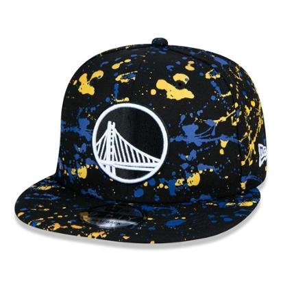 Boné 9Fifty Golden State Warriors Nba Paint Splatter Aba Reta  New Era