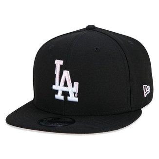 BONE 9FIFTY LOS ANGELES DODGERS QUICKTURN Q3 2021 ABA RETA ABA RETA SNAPBACK PRETO NEW ERA