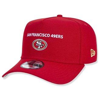 BONE 9FORTY A-FRAME SNAPBACK ABA CURVA SAN FRANCISCO 49ERS CORE CLASSIC VERMELHO NEW ERA