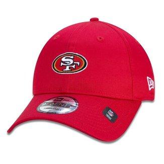 BONE 9TWENTY STRAPBACK ABA CURVA SAN FRANCISCO 49ERS SPORT STRAPBACK VERMELHO ESCURO NEW ERA