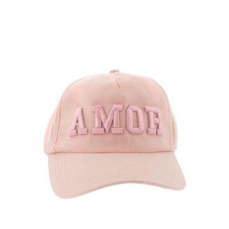Boné Aba Curva STZ Feminino Amor Rosa - U