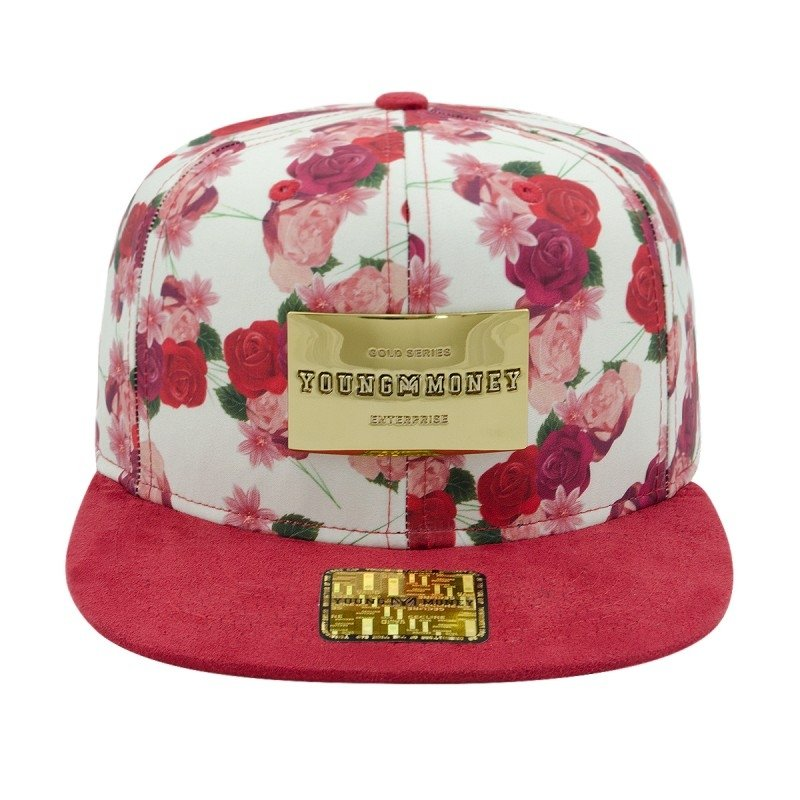 Boné Aba Reta Young Money Snapback Floral Red Gold Series eab300f81f4
