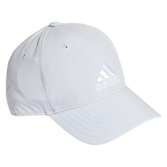 Boné Adidas Aba Curva Strapback Baseball Logo - Azul Claro