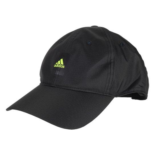 Boné Adidas Aba Curva Strapback Essentials Leveza Innovation - Preto+Amarelo