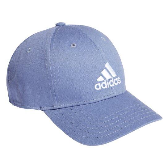 Boné Adidas Aba Curva Strapback Logo Baseball - Azul Royal