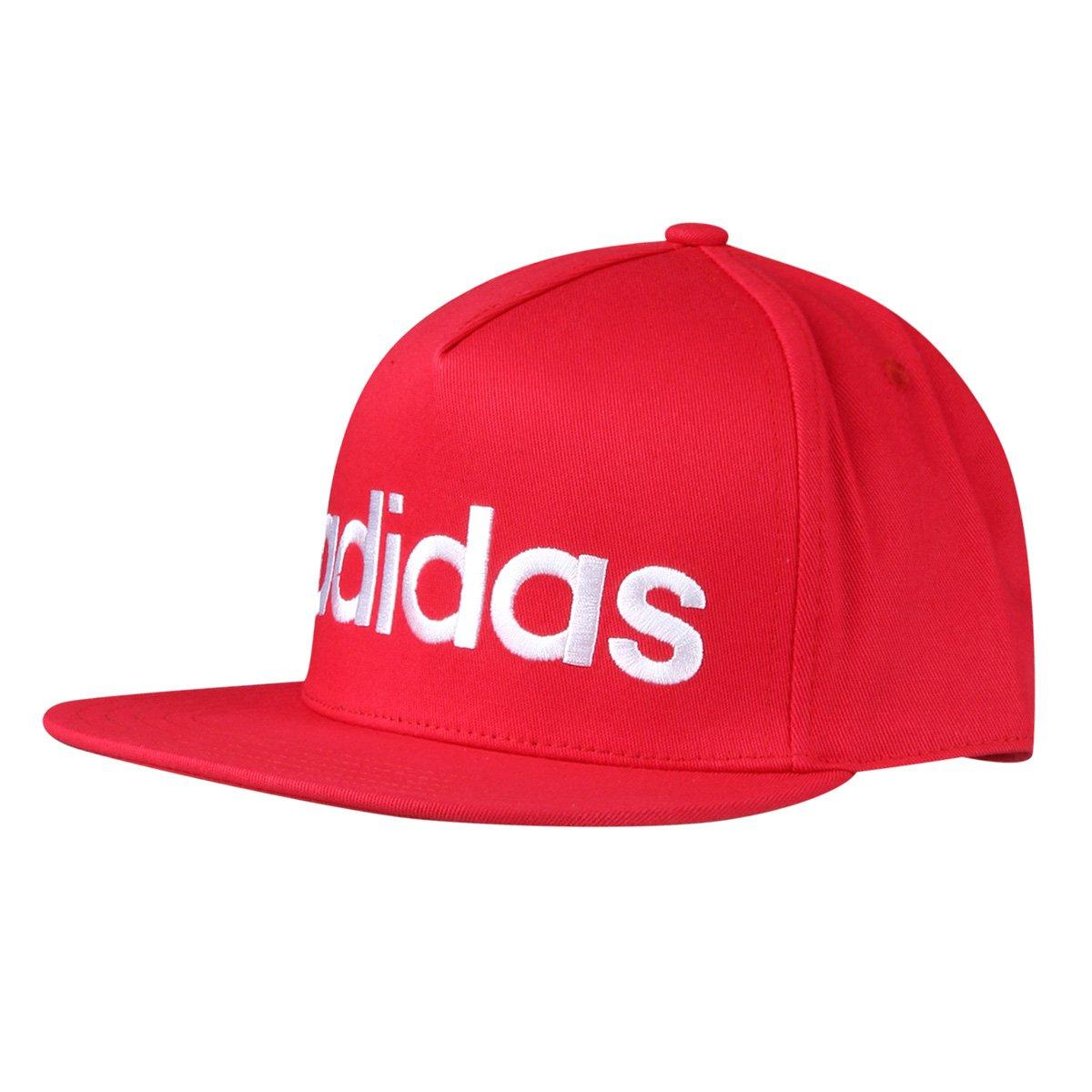 Boné Adidas Aba Reta Flatbrim Logo Masculino - Compre Agora  3022e4ea352