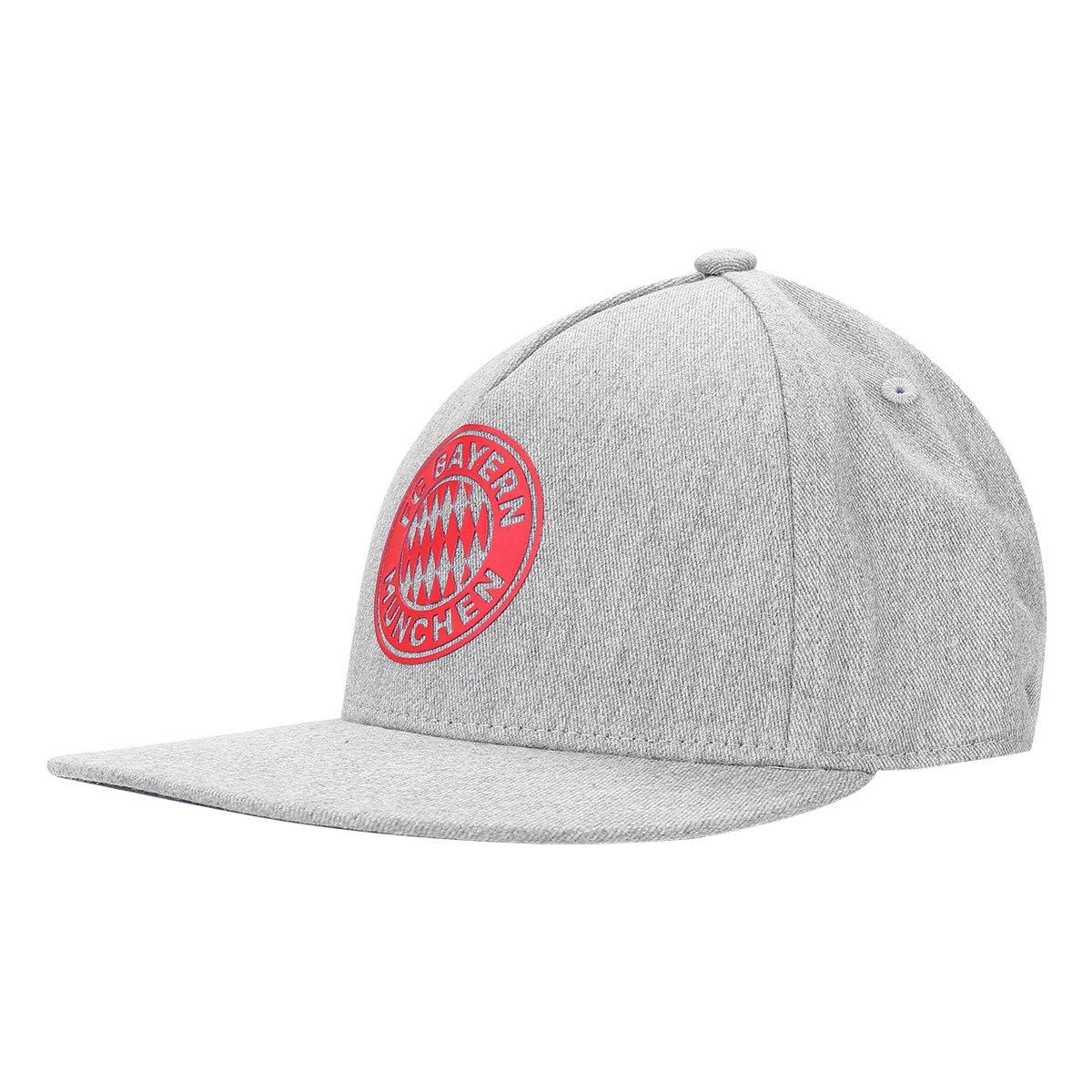 71912135b9cea Boné Adidas Bayern de Munique CW Aba Reta - Cinza e Vermelho - Compre Agora