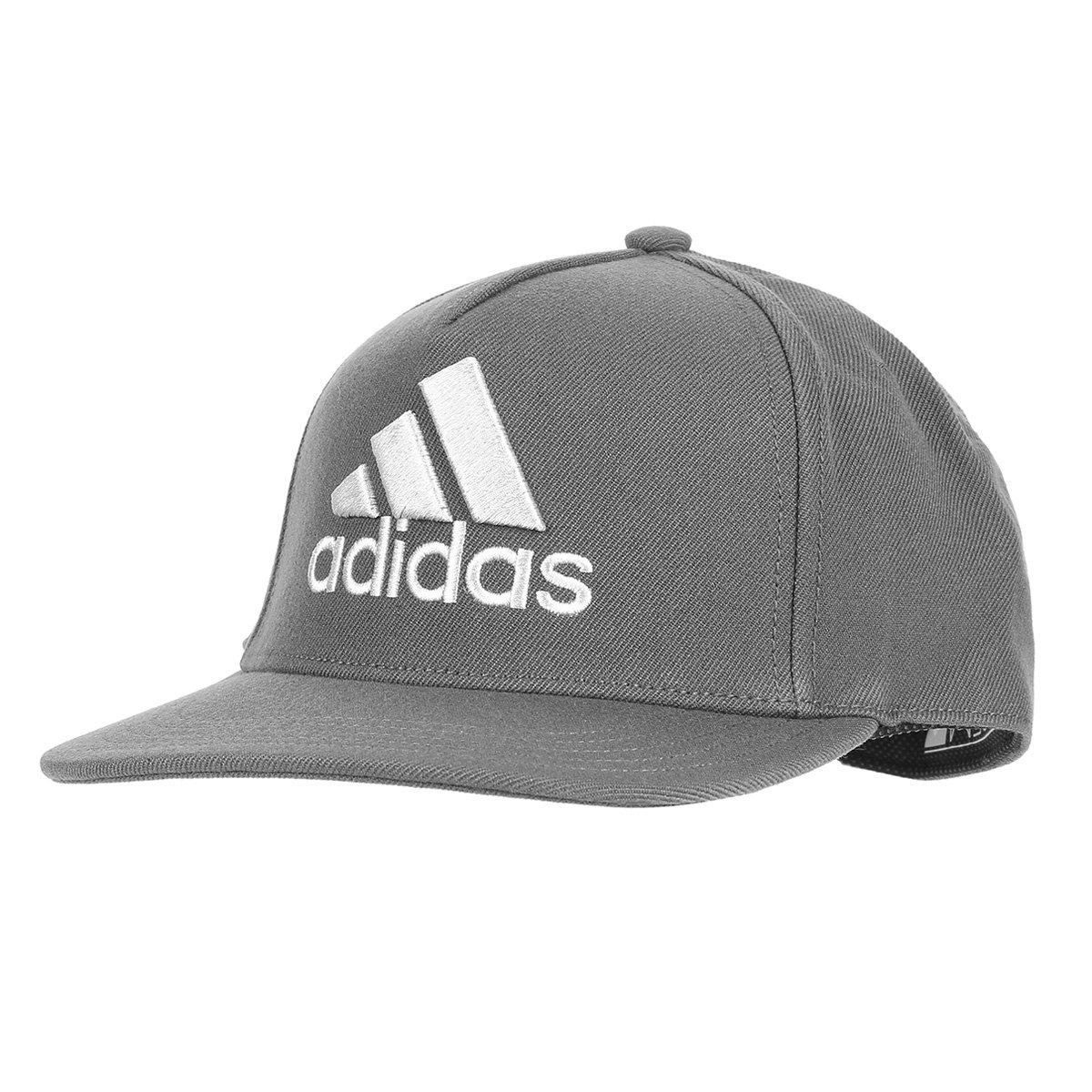 Boné Adidas H90 Logo Cap - Cinza e Branco - Compre Agora  c4a13bdeab1