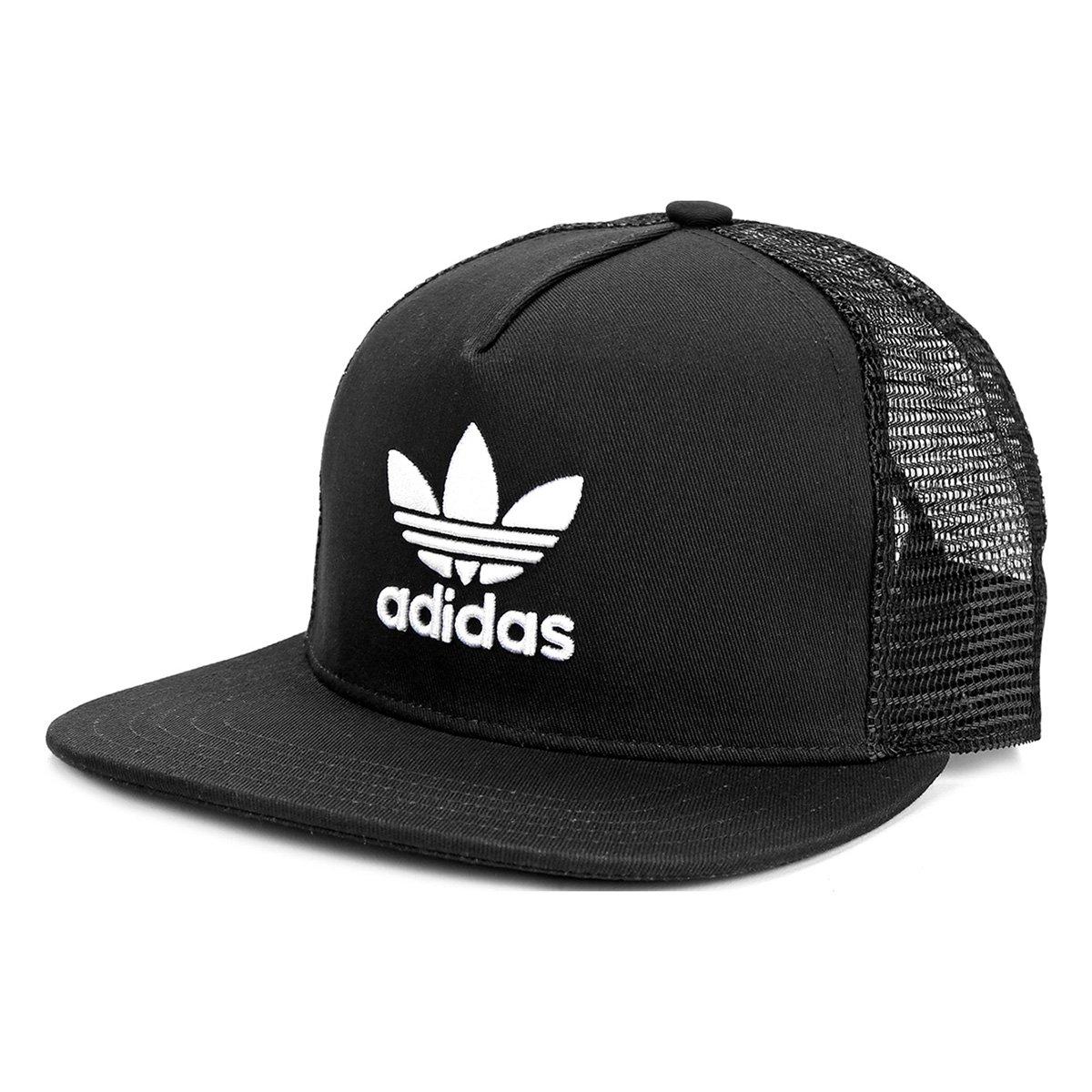 Boné Adidas Trefoil Flat - Compre Agora  0523ce7601a