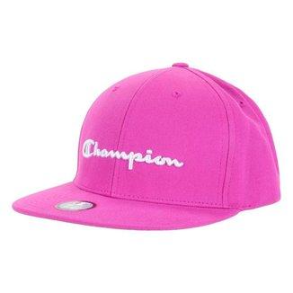 Boné Champion Snapback Script Hat Aba Reta