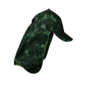 Boné Com Proteção De Pescoço E Orelha Cor Verde Camuflado
