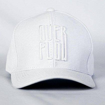 Bone Convencional Premium Aba Curva Com Logo Bordado Branco| Oficial Overflow