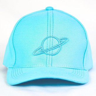 Bone Convencional Premium Aba Curva Oficial Overflow Com Planeta Bordado All Azul Pastel