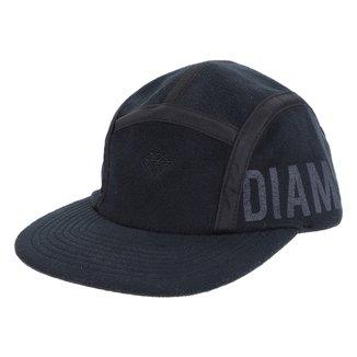 Boné Diamond Aba Reta Strapback Micro Brilliant Polar Fleece Camper Hat