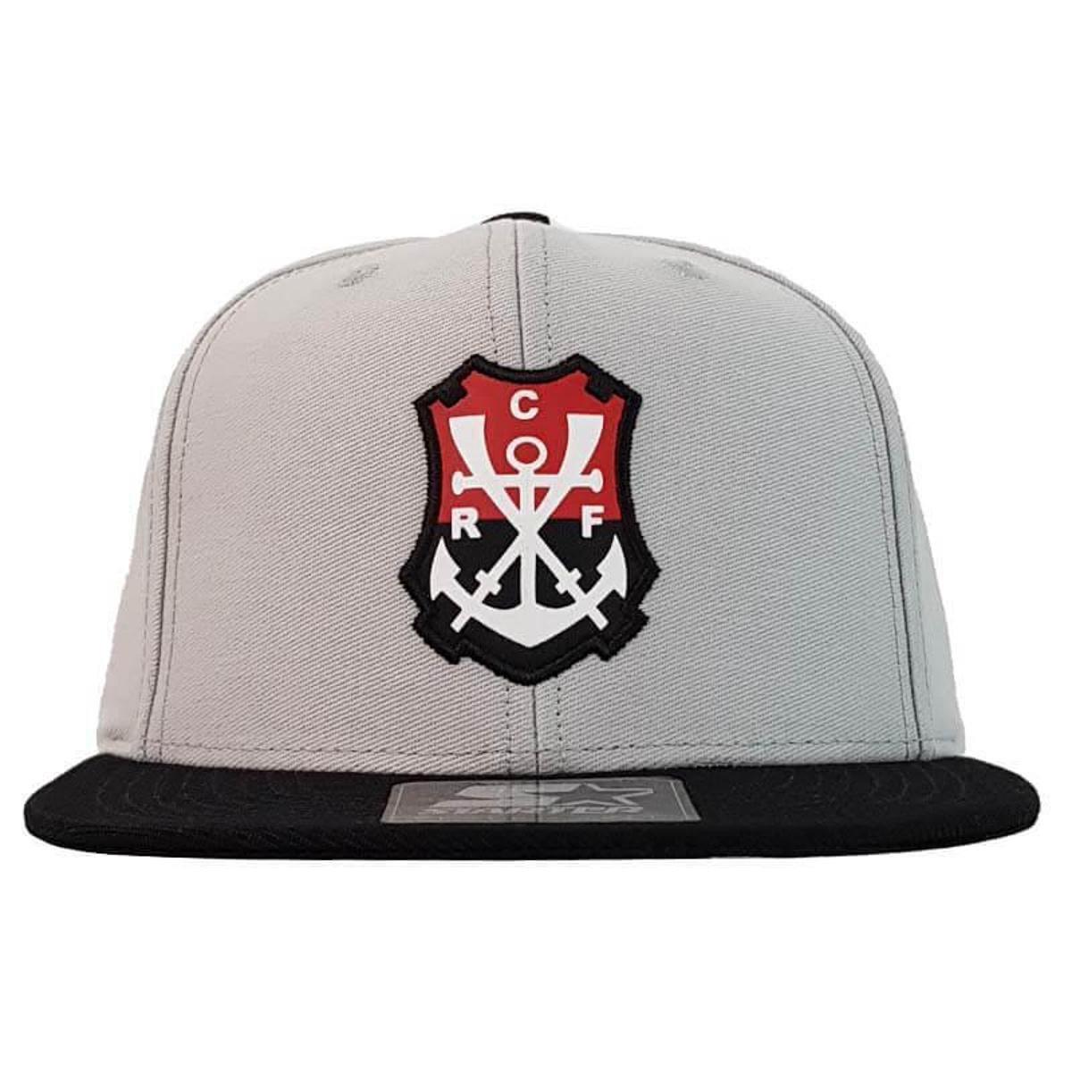 68734eac4cb5c Boné Flamengo 6G Logo Regata Starter - Cinza e Preto - Compre Agora ...