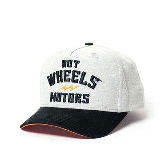Boné Hot Wheels Gear Head Motors - Cinza/Preto
