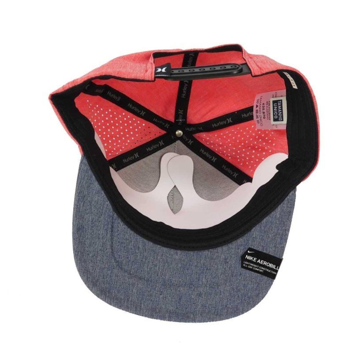 Boné Hurley Phantom Aba reta Snapback Rosa Azul - Compre Agora ... 0535ca6dc0c