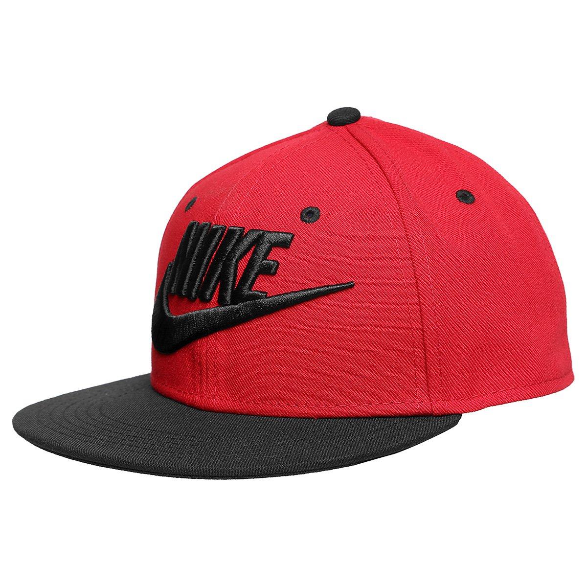866b81db6b Boné Infantil Nike Aba Reta Futura Truel - Vermelho e Preto | Netshoes