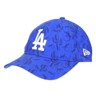 Boné Juvenil New Era Aba Curva Stapback MLB ST920 Nelilprint B1 Los Angeles Dodgers Otc