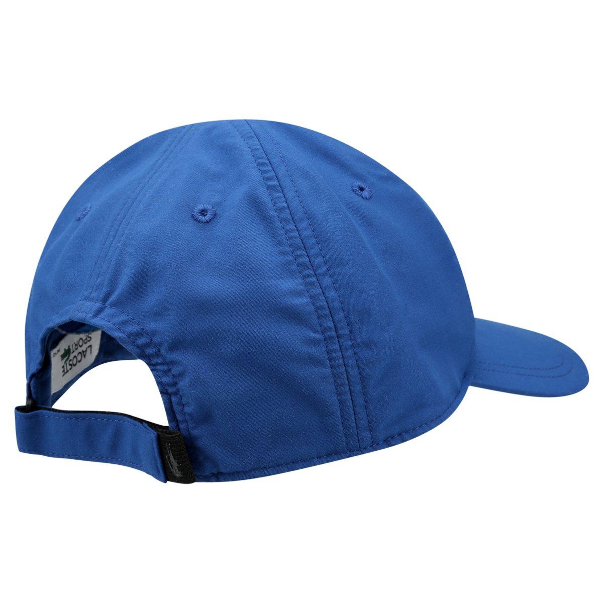 Carregando zoom. b52eb306d47 Boné Lacoste Aba Curva Estampa Logo Masculino  - Azul Royal - Compre . da149fb5d7