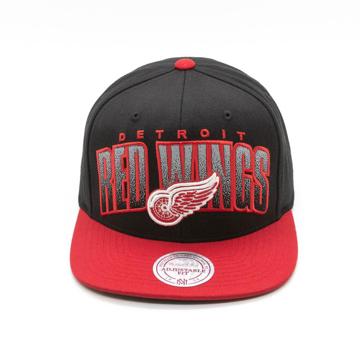456b21dcd2f76 Boné Mitchell   Ness Double Bonus NHL Detreoit Red Wings Aba Reta - Preto -  Compre Agora