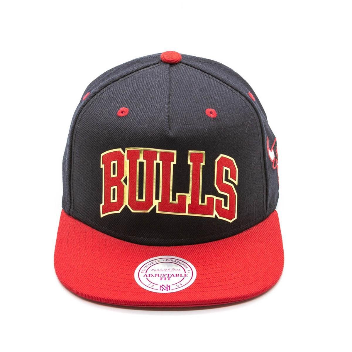 Boné Mitchell   Ness Sonar NBA Chicago Bulls Snapback - Vermelho+Preto. até  2x de R  39 5944dffd5a1