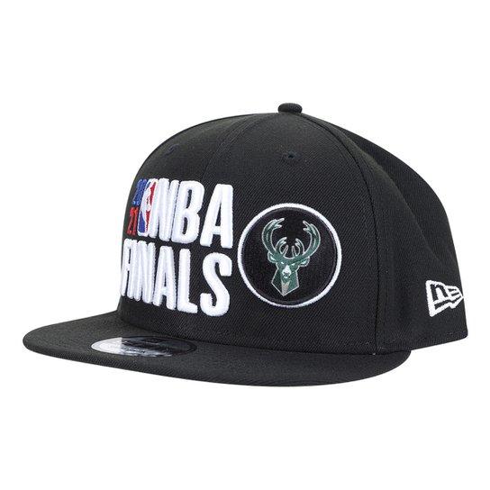 Boné NBA Milwaukee Bucks Aba Reta Snapback 950 Finals 2 - Preto