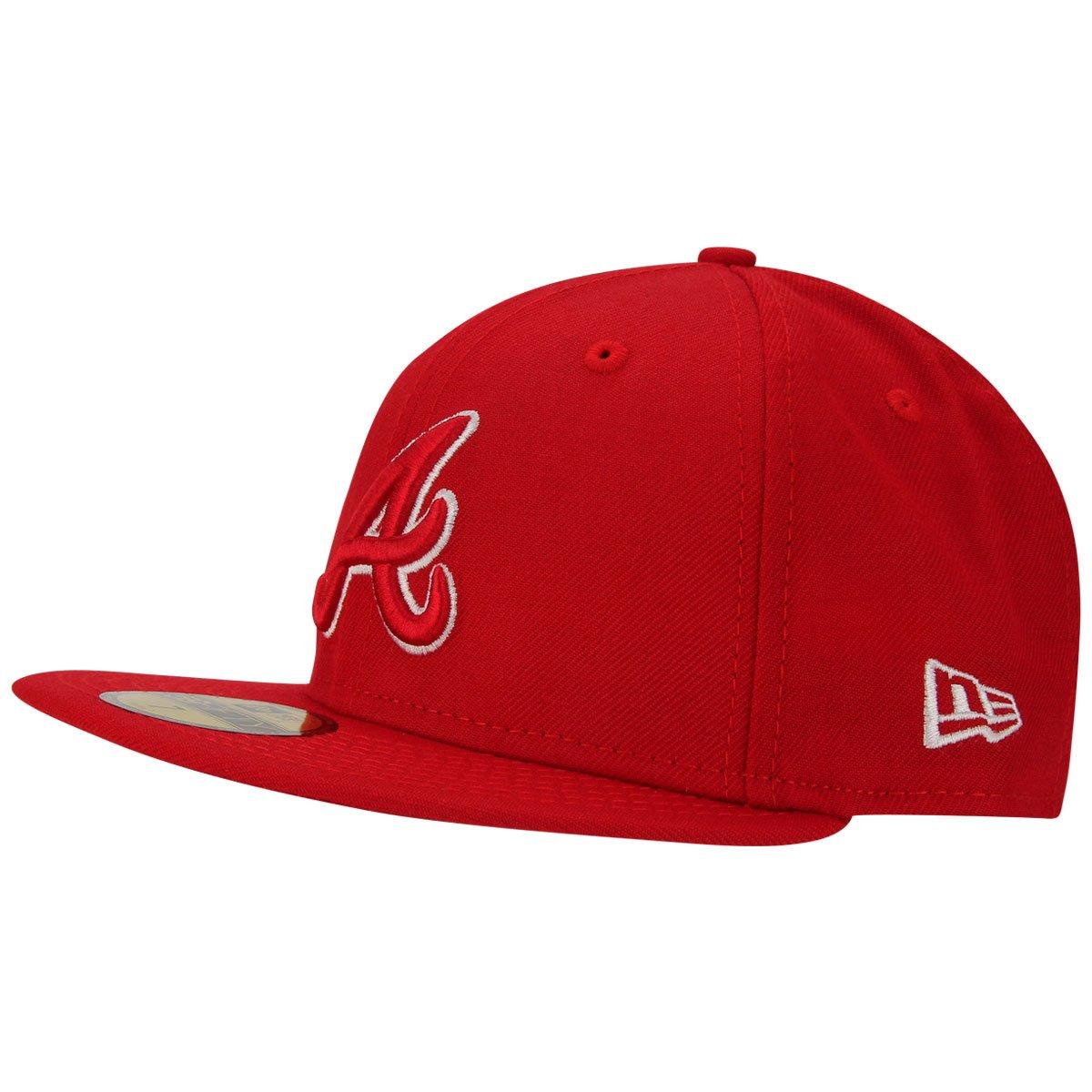 Boné New era 5950 Atlanta Braves - Vermelho - Compre Agora  457ee0c7a46