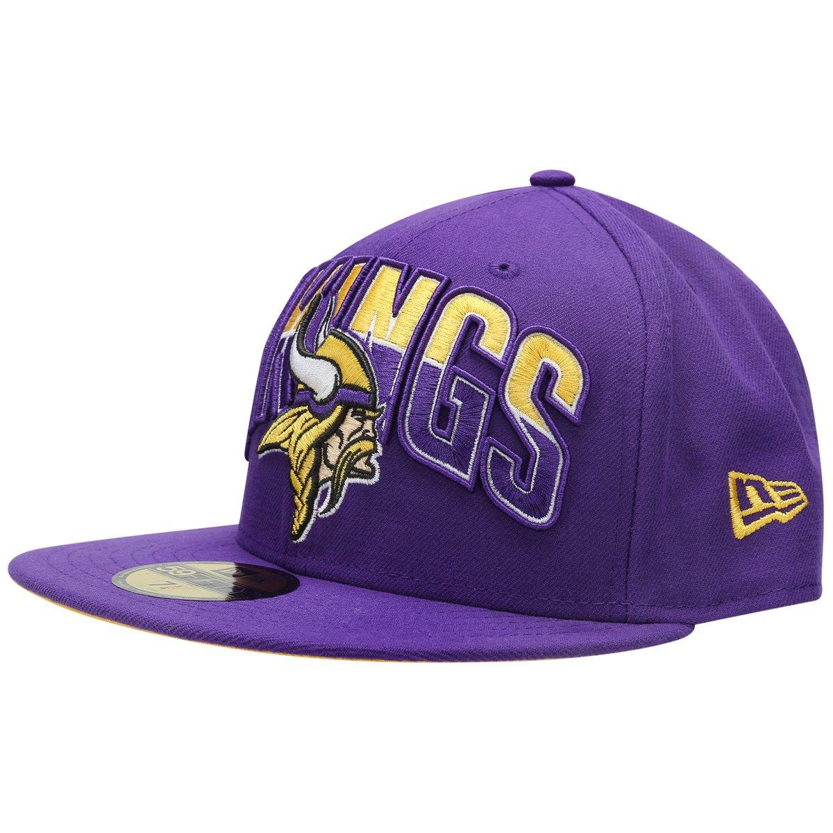 Boné New Era 5950 NFL Draft Minnesota Vikings Team Color - Compre Agora  96eac4d1943