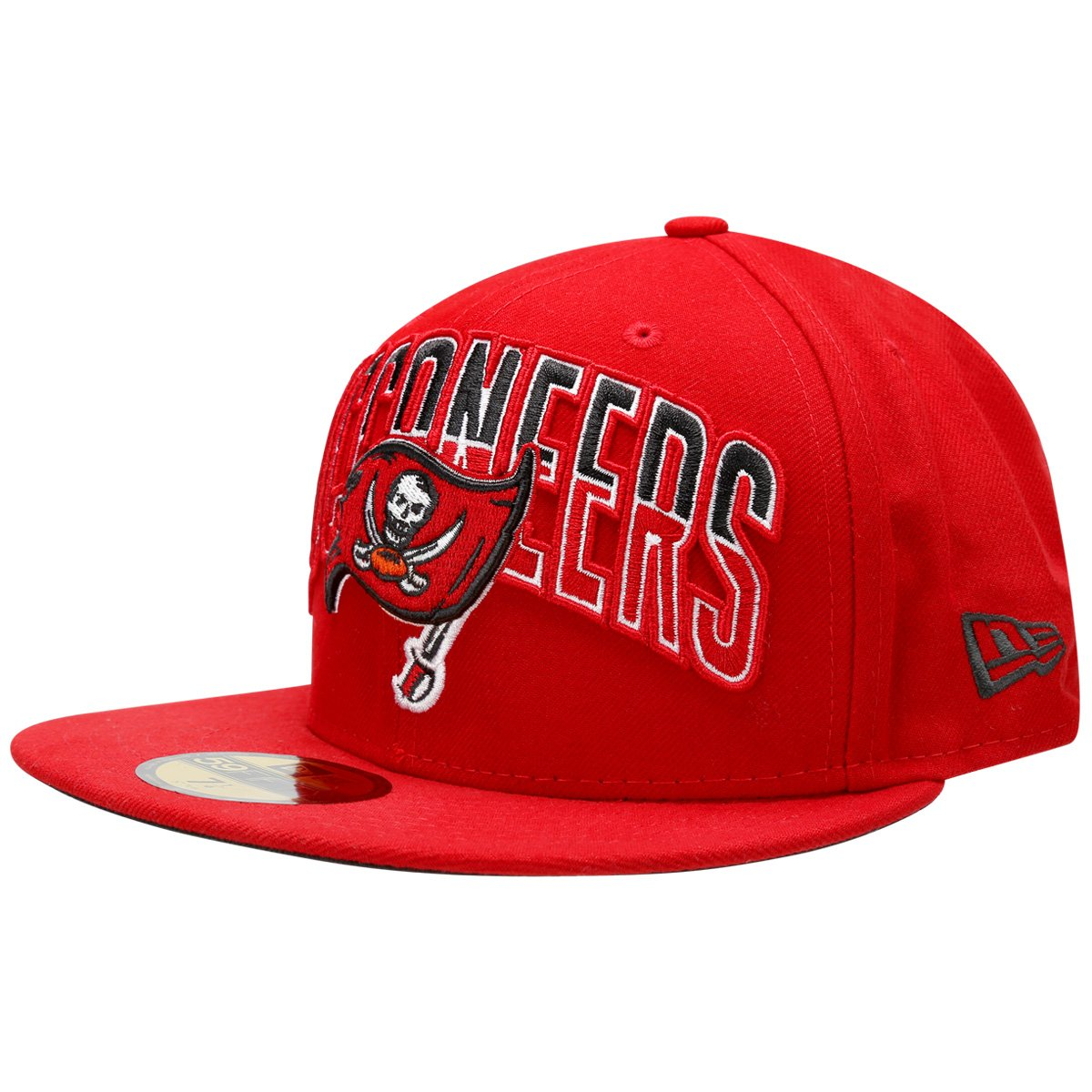 700b844a77459 Boné New Era 5950 NFL Draft Tampa Bay Buccaneers Team Color - Vermelho -  Compre Agora