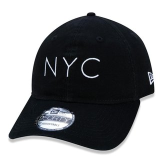 Boné New Era 940Unst Washed Duck Nyc Blk Ss20 Aba Curva