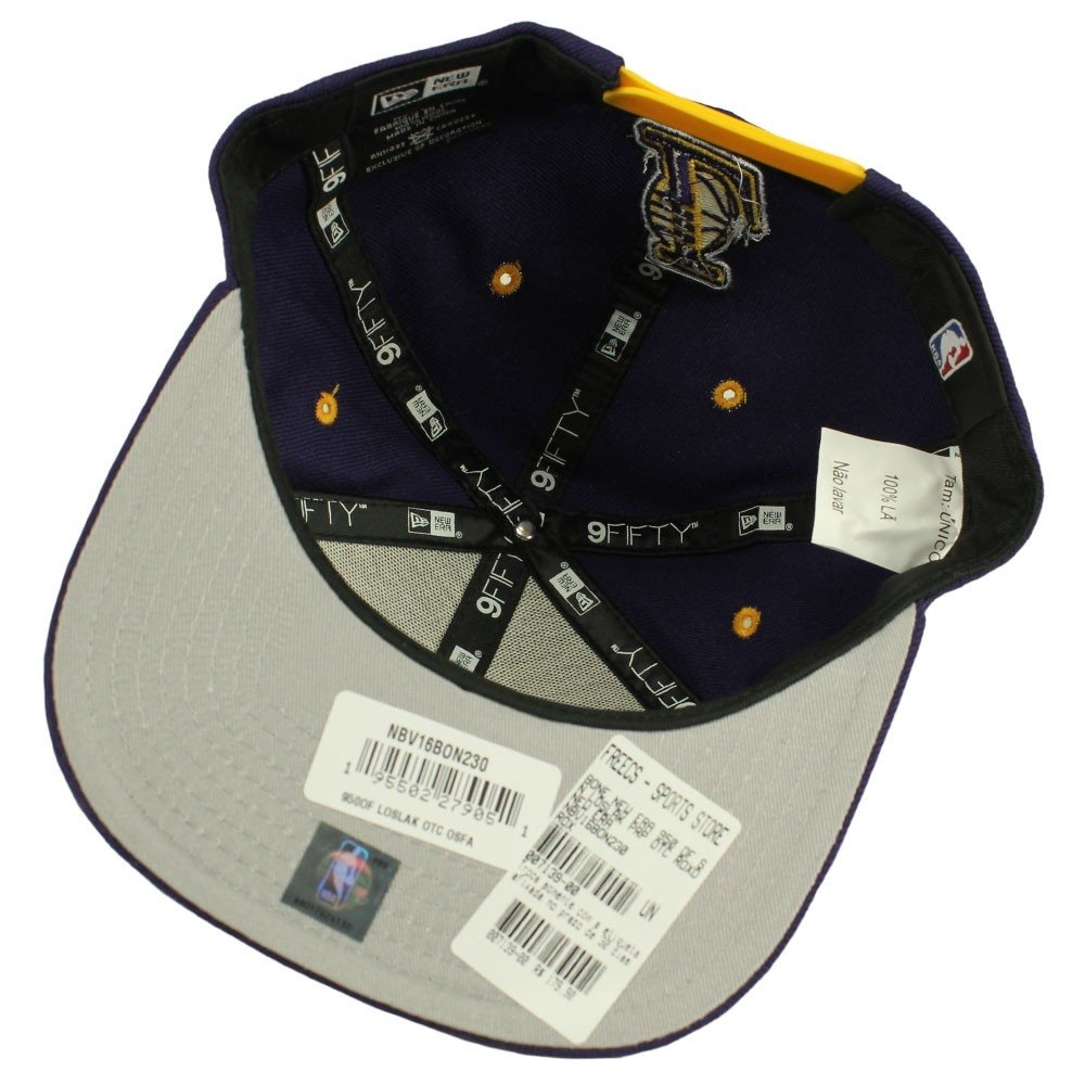 Boné New Era 950 Of Sn Los Angeles Lakers Prp Otc - Compre Agora ... 8e610668f5e