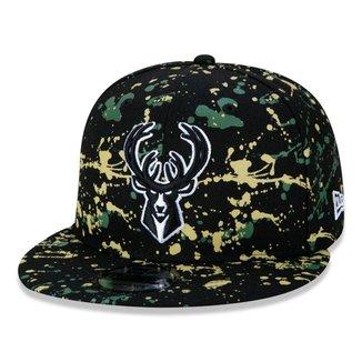 Boné New Era 9FIFTY Milwaukee Bucks NBA Paint Splatter