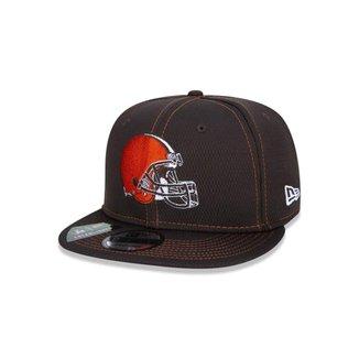 Boné New Era 9FIFTY NFL On-Field Coleção Sideline Cleveland Browns Marrom
