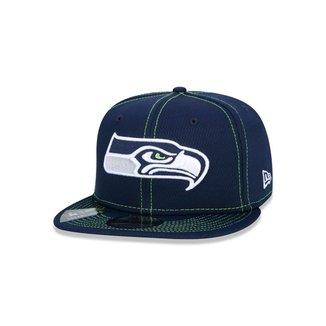 Boné New Era 9FIFTY NFL On-Field Coleção Sideline Seattle Seahawks