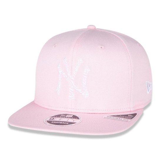 Boné New Era 9FIFTY Original Fit MLB New York Yankees Extra Fresh Animal - Rosa