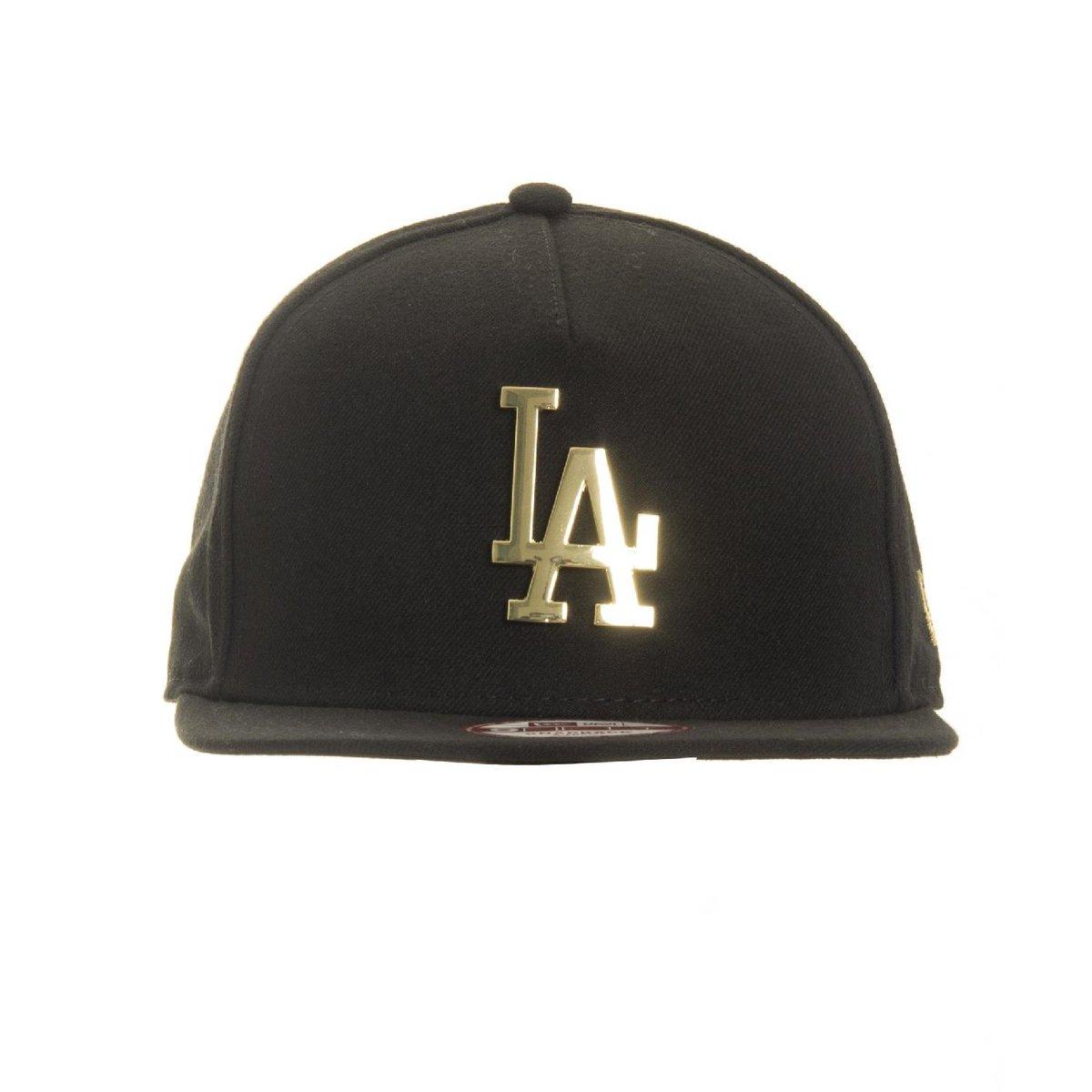 cd01b70566a99 Boné New Era 9FIFTY Snapback Los Angeles Dodgers Gold Metal Logo - Compre  Agora