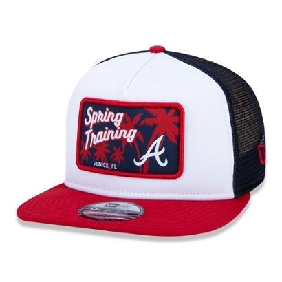 Bone New Era 9FIFTY Trucker MLB Atlanta Braves Spring Training