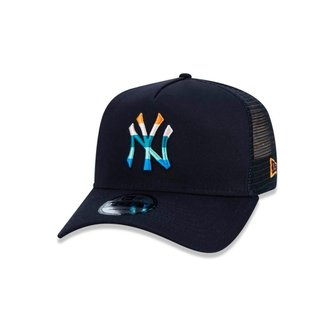 Boné New Era 9FORTY A-Frame Logo Colors MLB New York Yankees