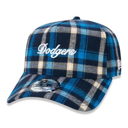 Boné New Era 9FORTY A-Frame MLB Los Angeles Dodgers Plaid Script