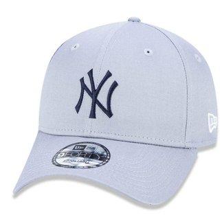 Boné New Era 9FORTY Aba Curva Ajustável MLB New York Yankees Basic