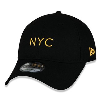 Boné New Era 9Twenty Simple Signature Fluor Nyc Aba Curva Snapback