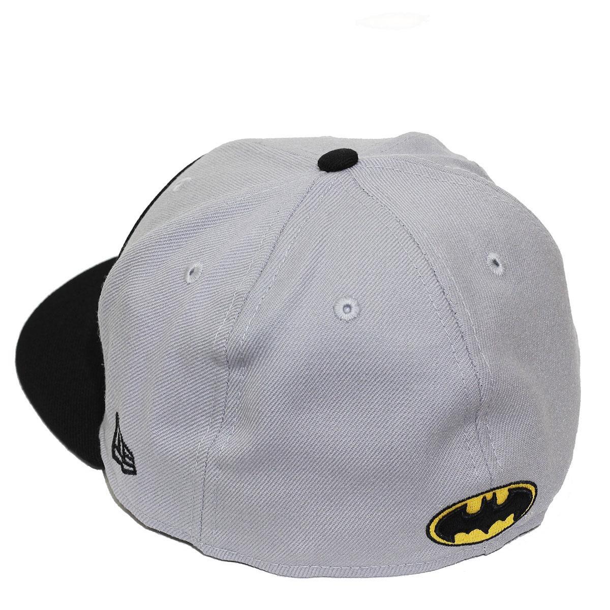Boné New Era Aba Reta Fechado Batman Circle Plane - Cinza - Compre ... 78be15d40a5