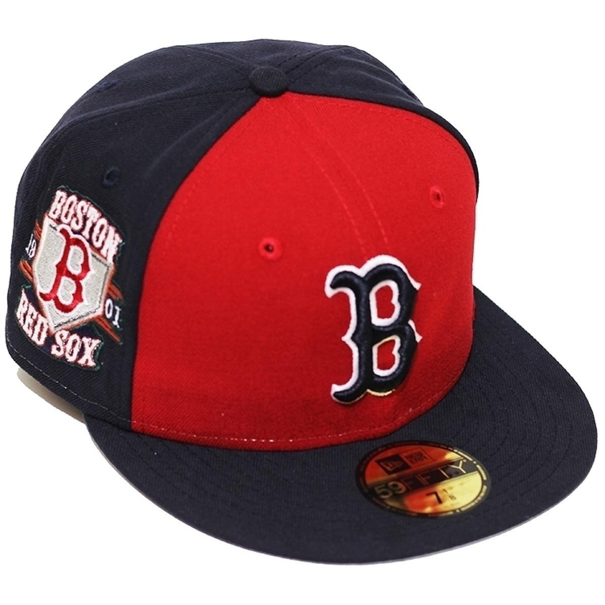 Boné New Era Aba Reta Fechado Mlb Boston Customizer - Azul - Compre ... 4e312b5534c