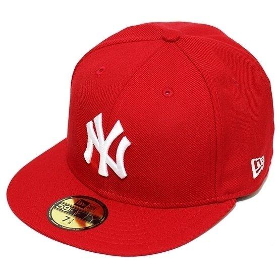 Boné New Era Aba Reta Fechado Mlb Ny Yankees Basic - Vermelho ... 084edb8e8c9